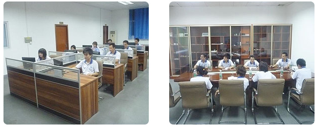Plastic mold factory design room and meeting room