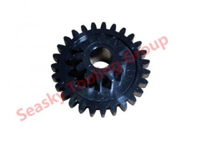 Custom molded plastic gear