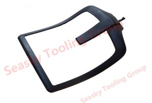 Molded plastic chair part