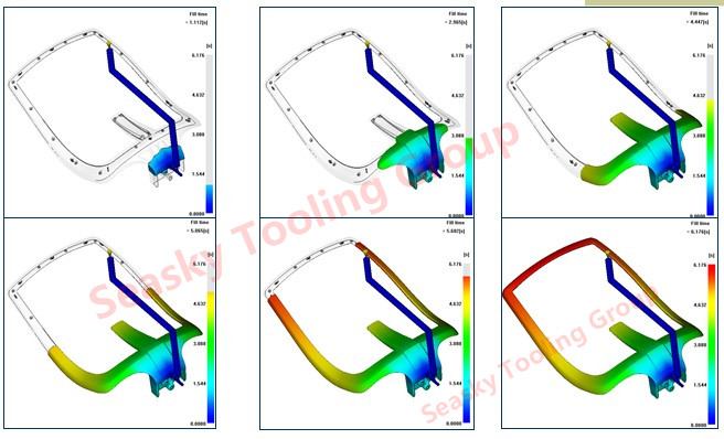 Plastic chair molding filling analysis