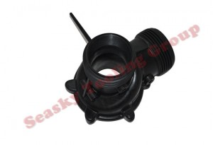 Custom threaded plastic pipe fittings