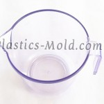 Thermoplastic injection molding cup