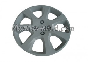 Automobile wheel plastic cover mold