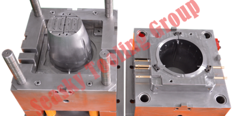 Plastic fan housing mould